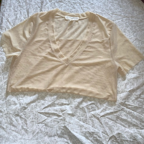Urban Outfitters Tops - ⚡️NWOT Urban Outfitters nude mesh tee⚡️